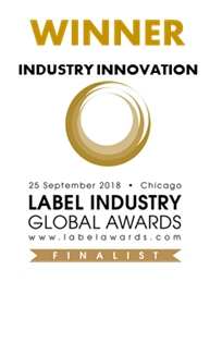 "Seal that states ""Winner of the Label Industry Global Awards"""